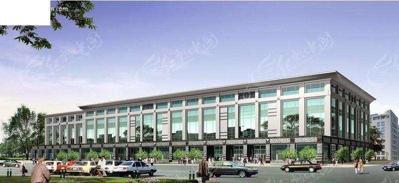 商业城大楼外景效果图图片高清图片
