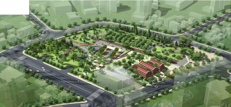 香都花园 住宅小区规划 鸟瞰图  住宅楼盘 住宅大楼 建筑设计 建筑
