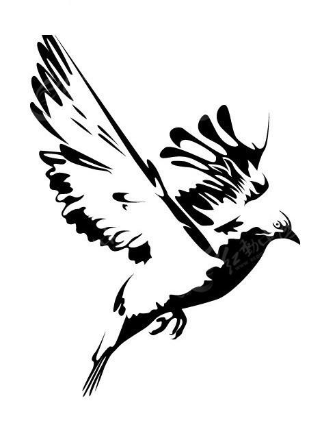 飞翔 鸟 鸽子 和平鸽  动物 动物图片 矢量素材