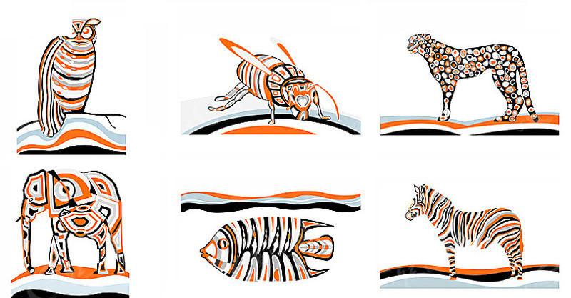 动物身体部位剪切图片