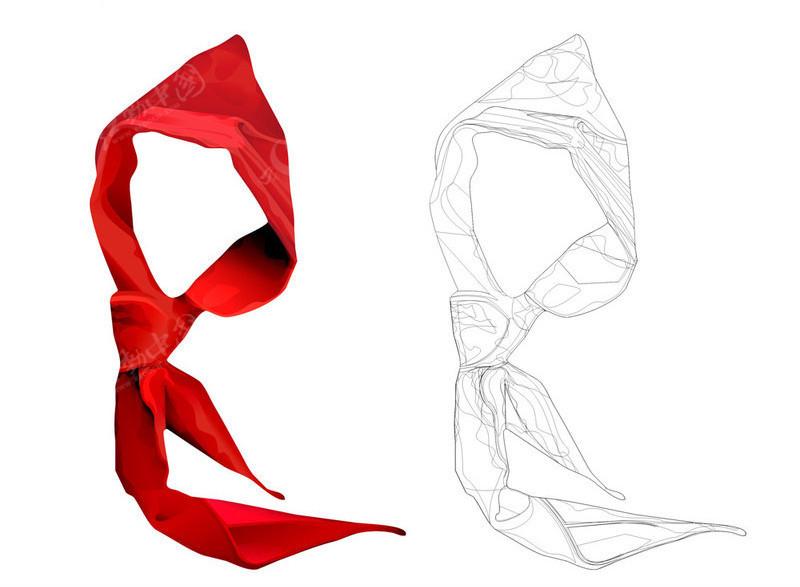 红领巾矢量图