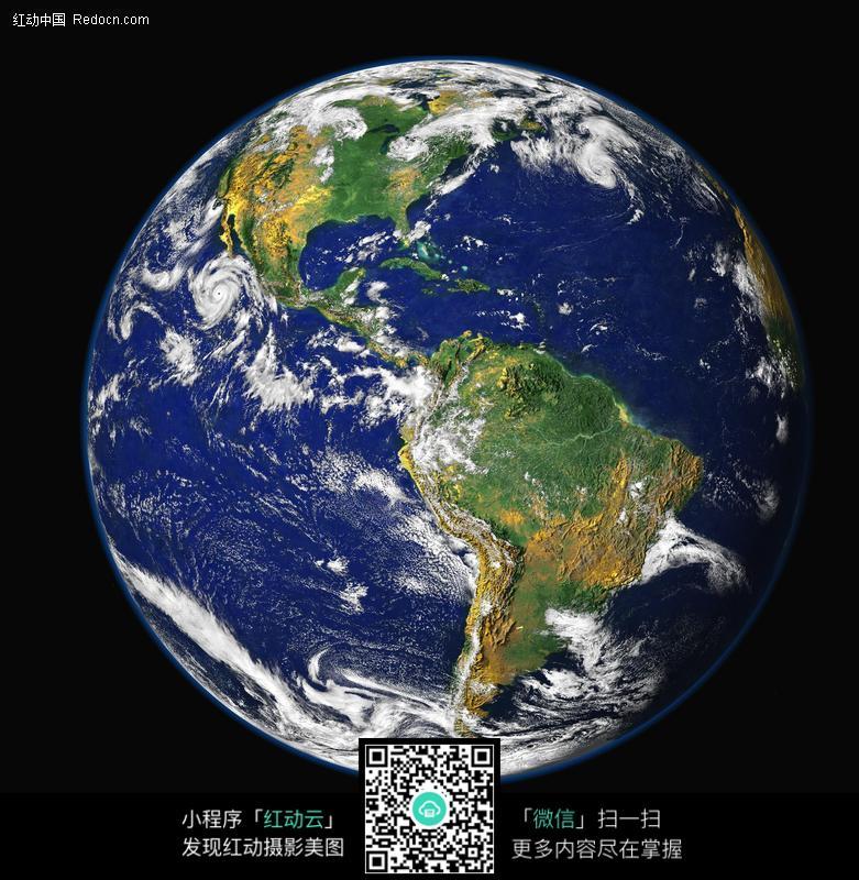 在太空看地球图片