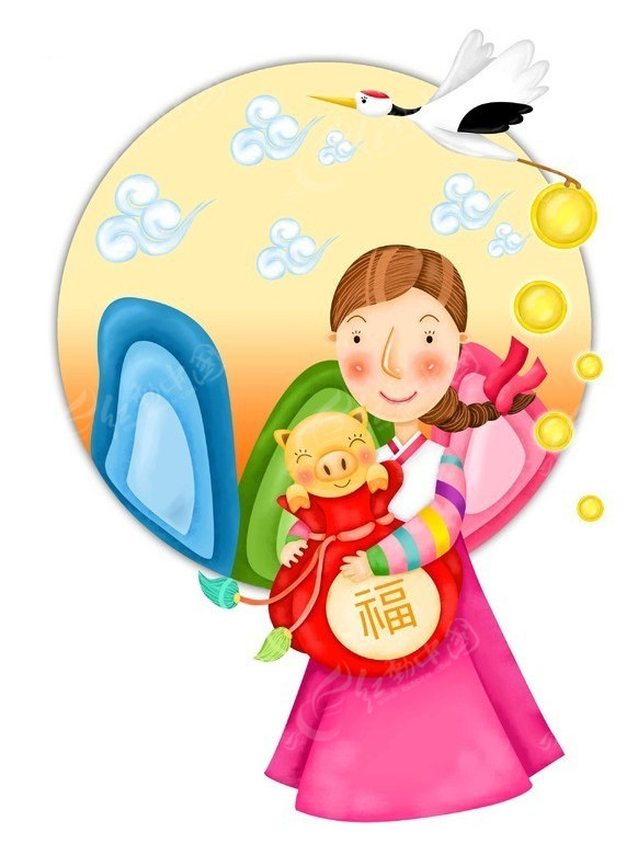 围裙妈妈脚_猪宝宝和妈妈_卡通人物