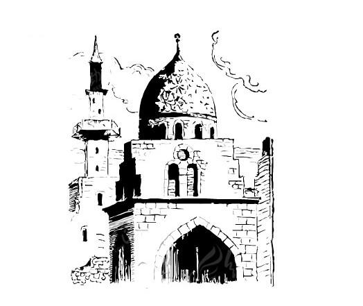 古堡建筑矢量素材图片