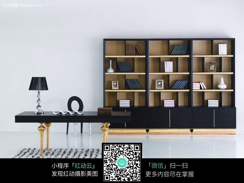室内家居装饰图-书房书柜图片_室内设计图片