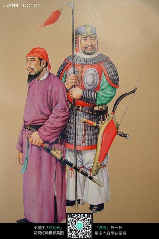 中国古代士兵将军图图片