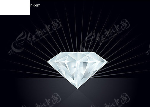 钻石灯具手绘图