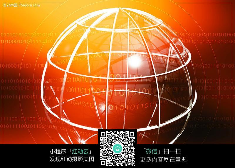 网格结构球体背景图片