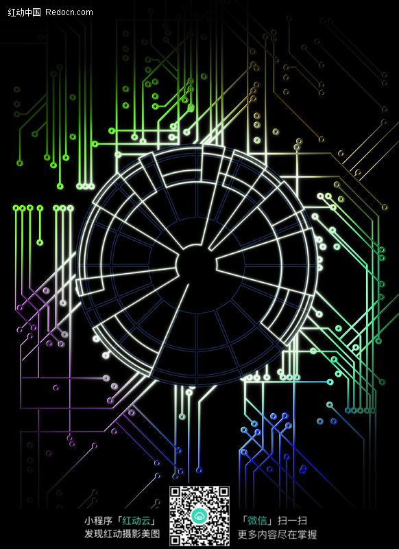 电路数码背景图片
