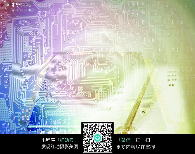 电路结构数码背景图片