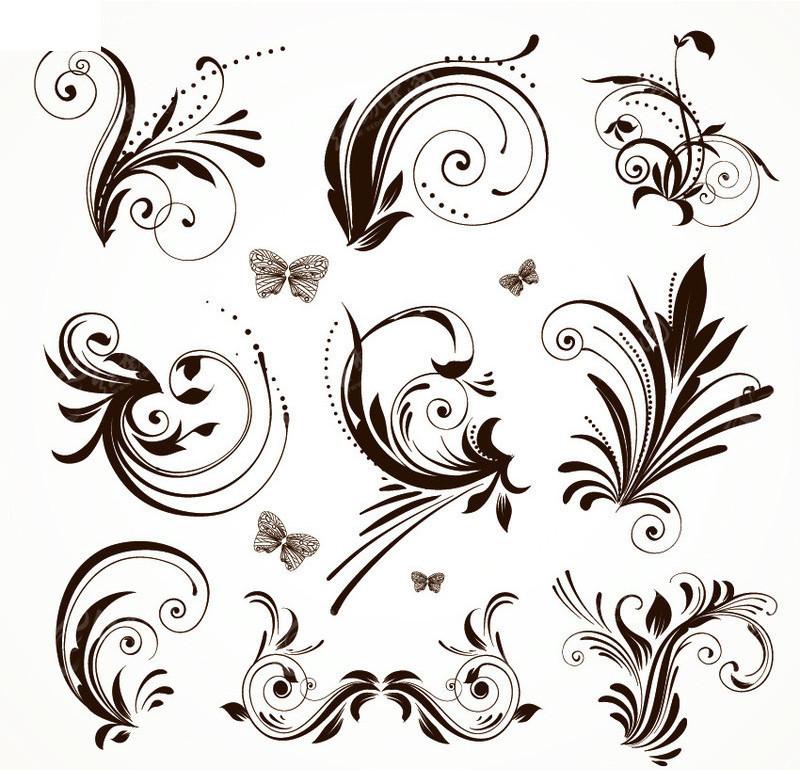 欧式古典花纹花边