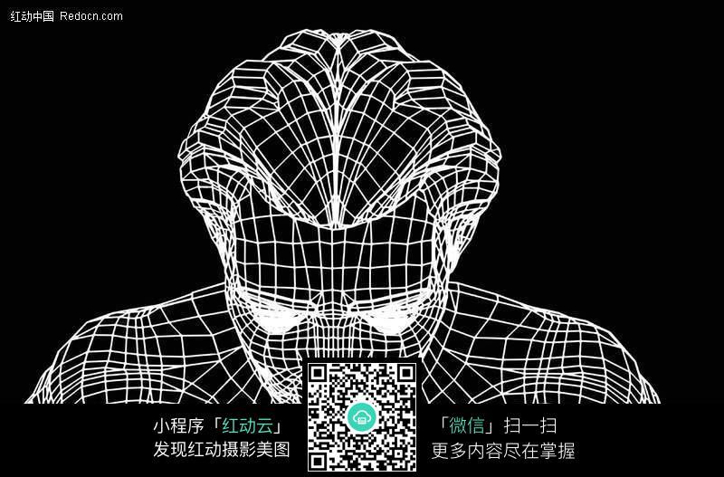 3d网格线条人物图片