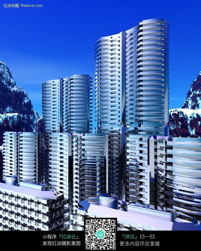 免费素材 图片素材 环境居住 城市风光 3d城市 高楼大厦  请您分享