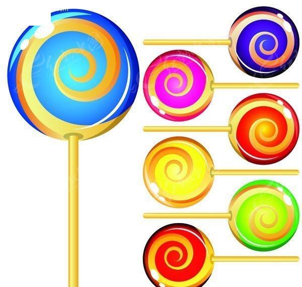 彩色棒棒糖矢量图
