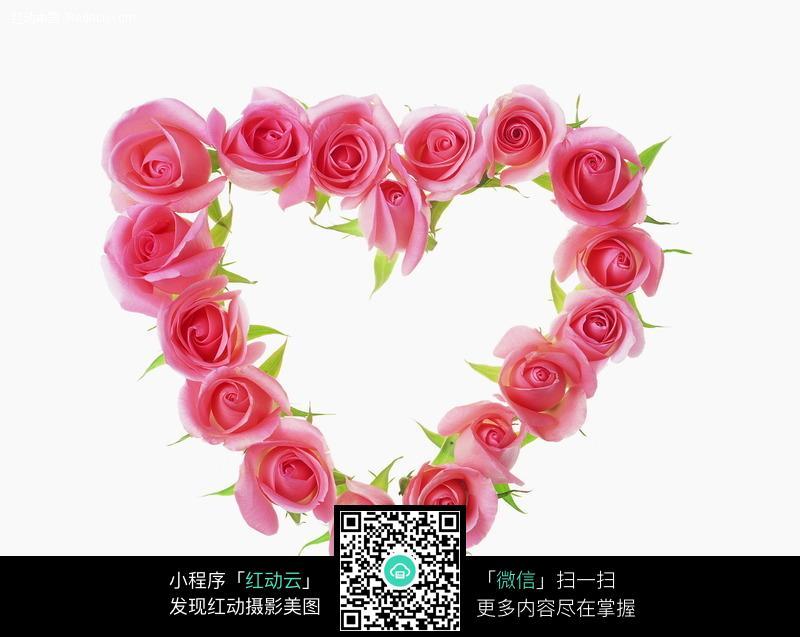 玫瑰花心形边框图片