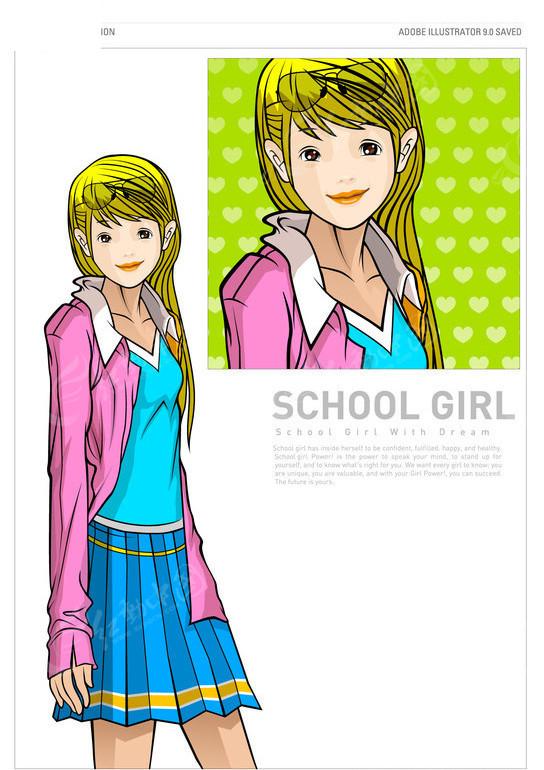 校园美少女
