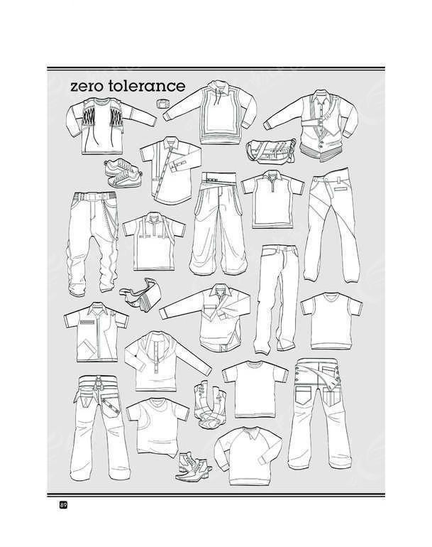 服装展示手绘平面图