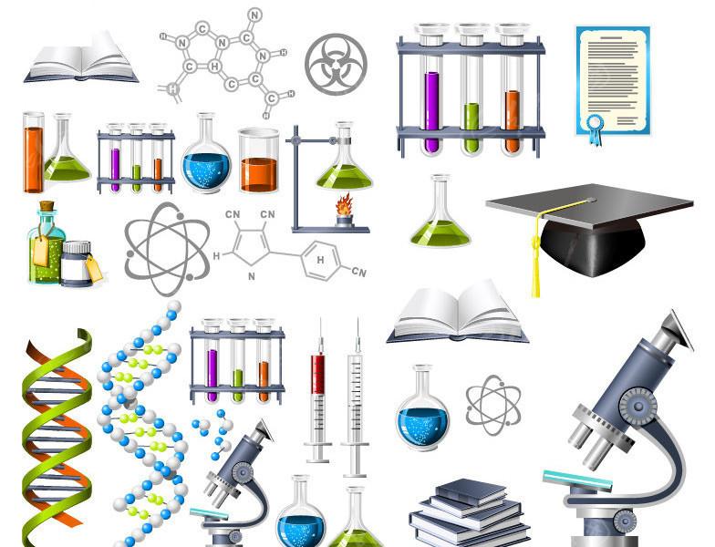 生物化学主题图标矢量