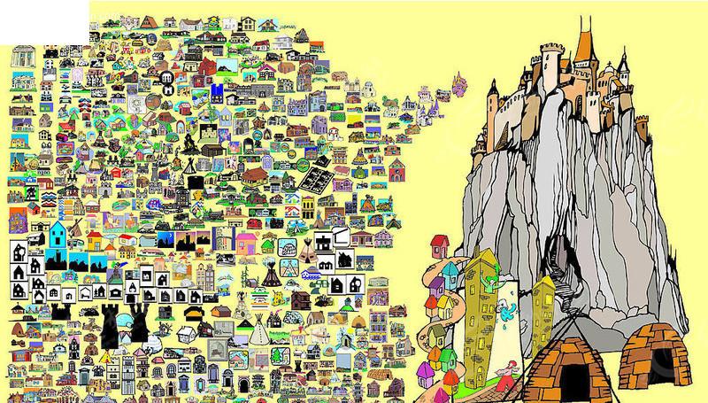 上百款卡通矢量建筑物矢量图
