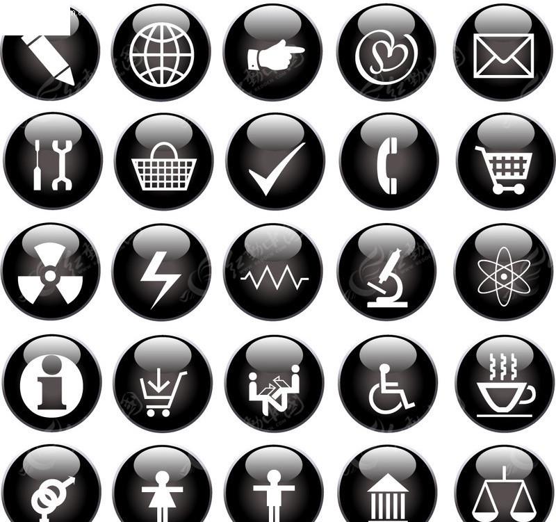 单个点击按钮小图标_单个按钮小图标素材展示_设计图分享