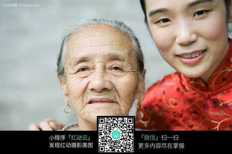 美女和老奶奶图片 人物图片素材|图片库|图库下