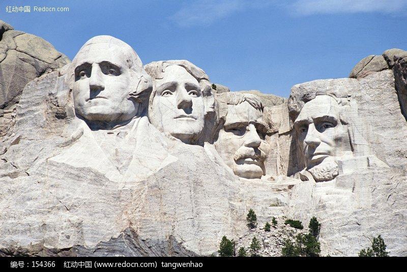 美国总统山雕像图片