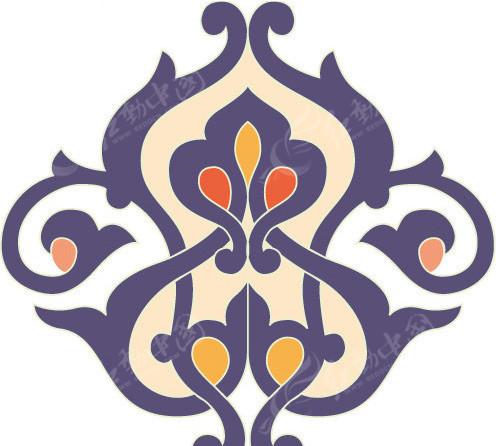 蒙古纹样矢量图EPS免费下载 花纹花边素材