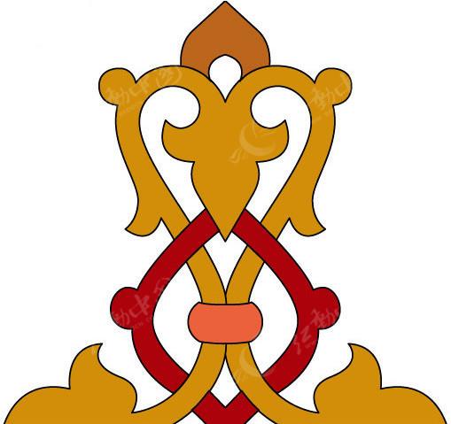 蒙古花纹花边EPS素材免费下载 编号156031 红动网