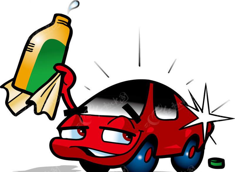 卡通汽车打蜡图片