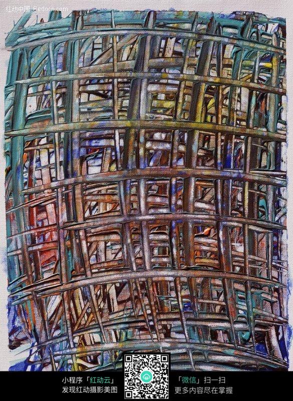 手绘网格艺术低温图片