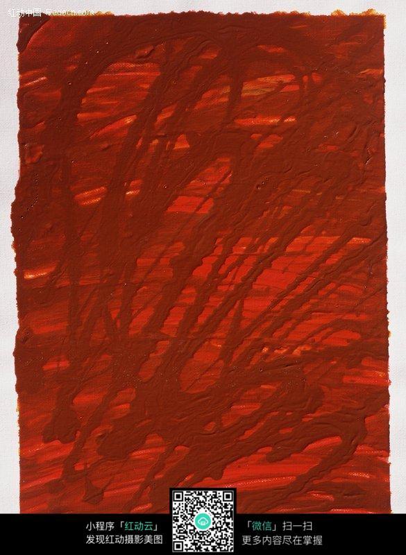 红色颜料手绘水彩背景图片