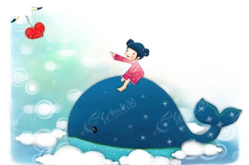 小鲨鱼 桃心 心形 海鸟 卡通儿童 卡通人物 漫画人物 psd分层素材