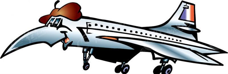 卡通飞机矢量图_卡通形象