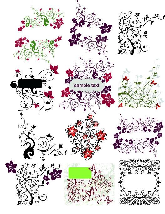 曲线花纹边框名片 花纹边框个人简历 欧式花纹边框简历设计 欧风花纹