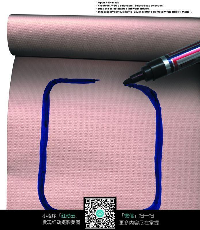 记号笔画的边框图片