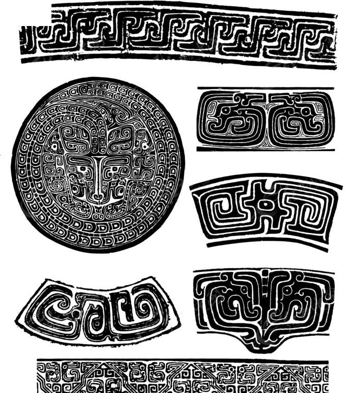中国经典纹样素材-古典器皿纹样图片