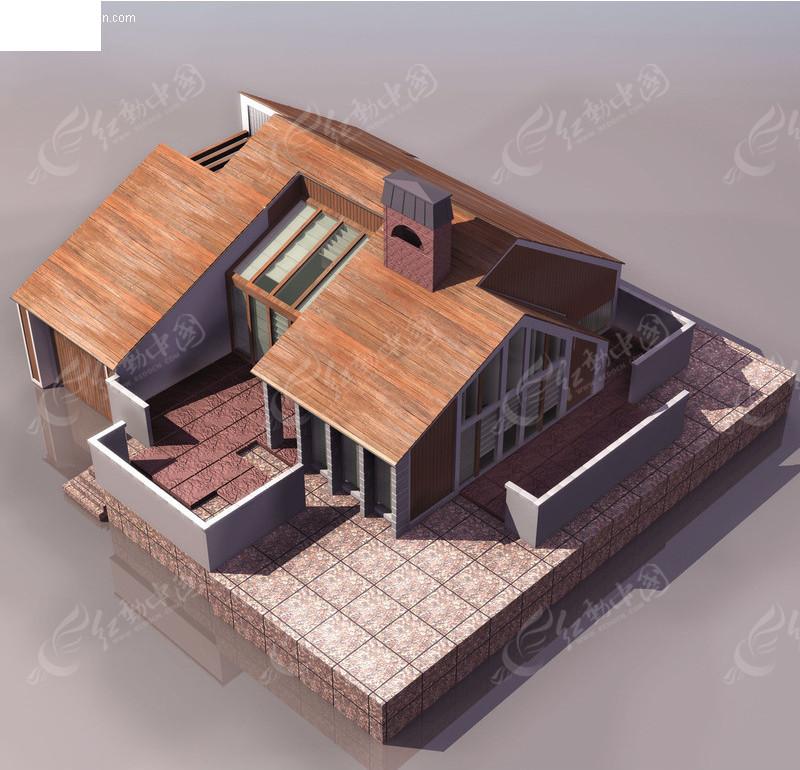 三维房屋建筑模型