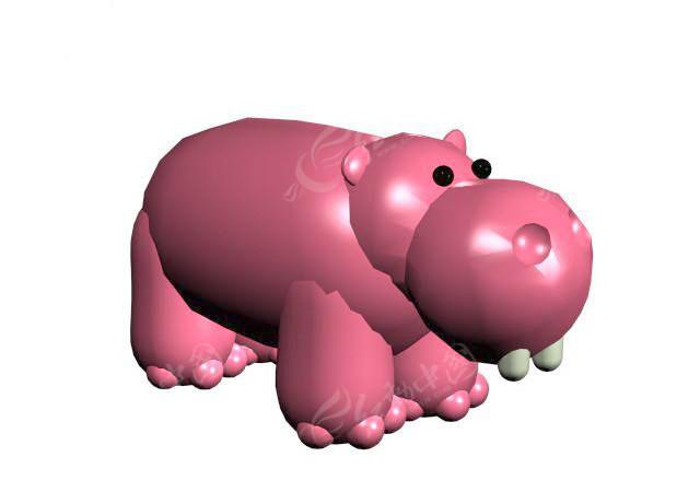河马max模型图片