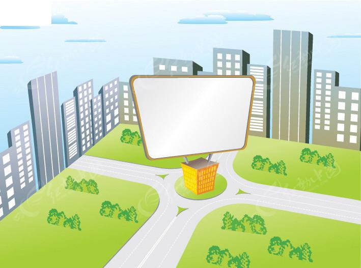 卡通户外广告牌矢量图eps免费下载_其他模板素材