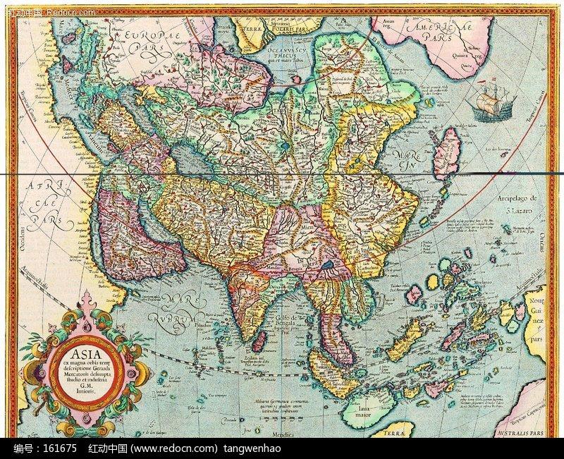 古老的中国地图图片_其他图片