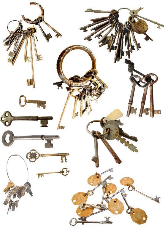 老式钥匙素材图片