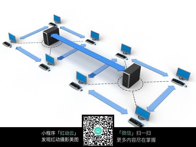 3d电脑网络连接图片