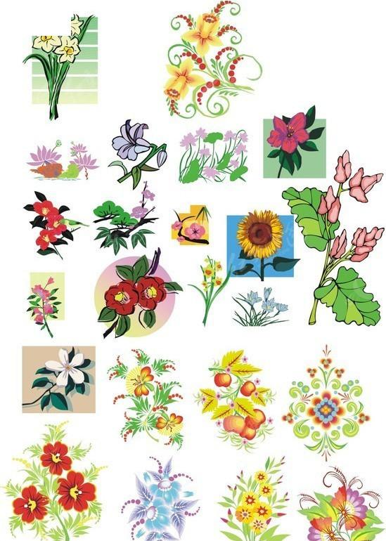 简笔画的各种花卉