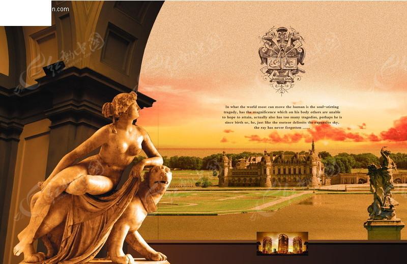 欧式房地产宣传海报psd免费下载_房地产广告素材