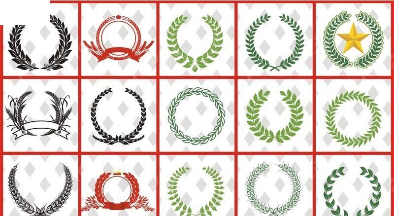 各种麦穗矢量图cdr免费下载_徽标|徽章|标贴素材