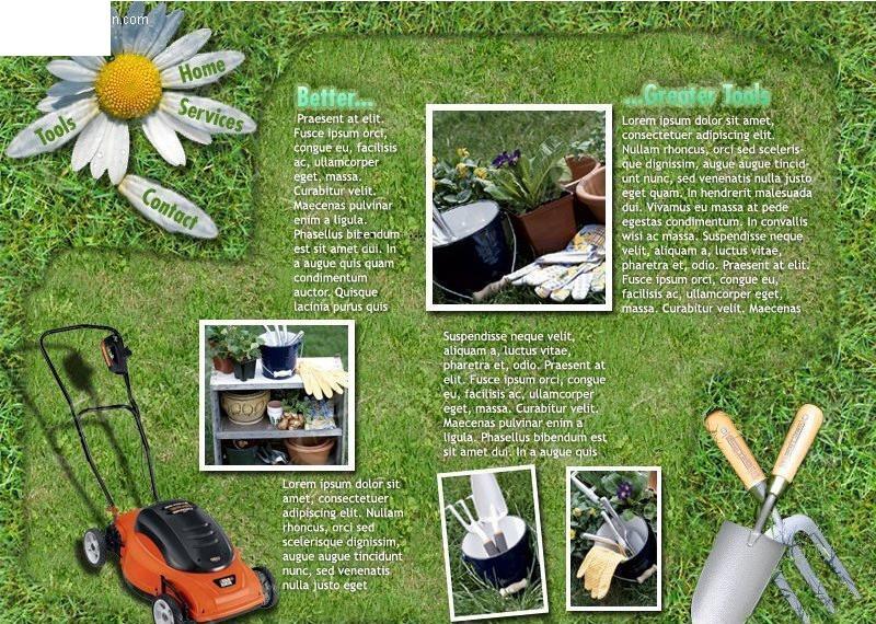 园林公司网站模板源码图片