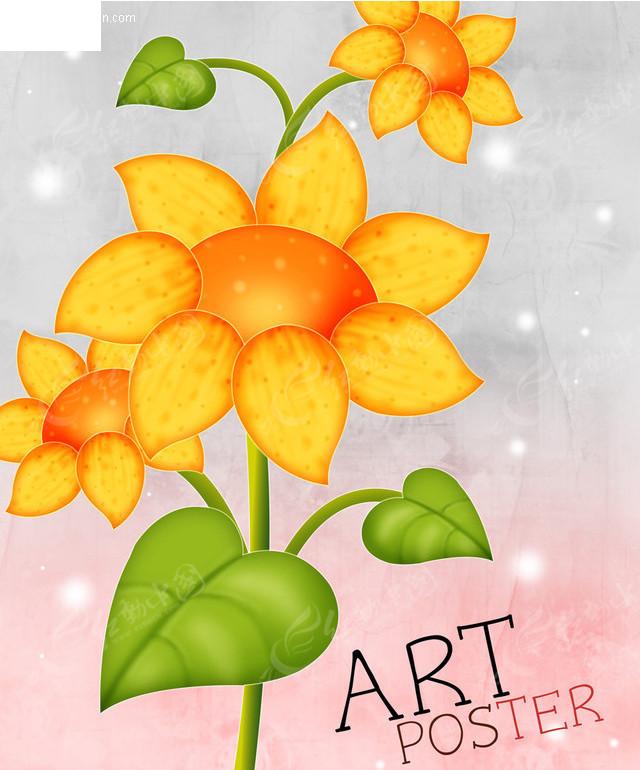 手绘花朵图案
