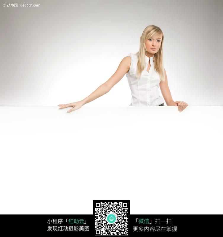 美女空白展示模板素材图片