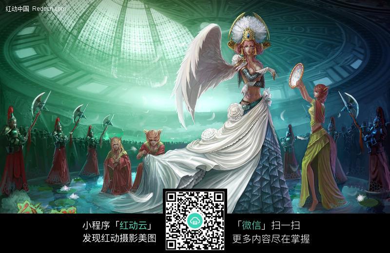 兽血沸腾网络游戏人物背景图片免费下载_红动网