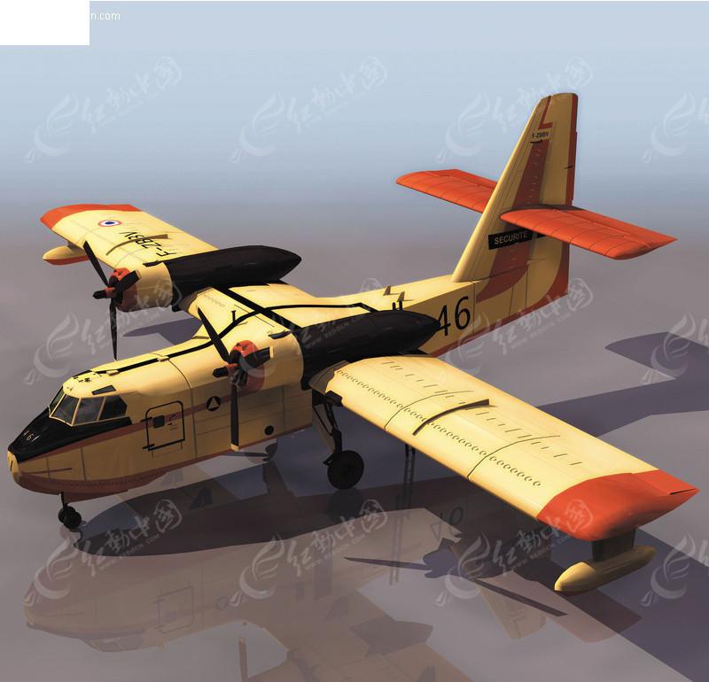 candair飞机模型素材3ds免费下载